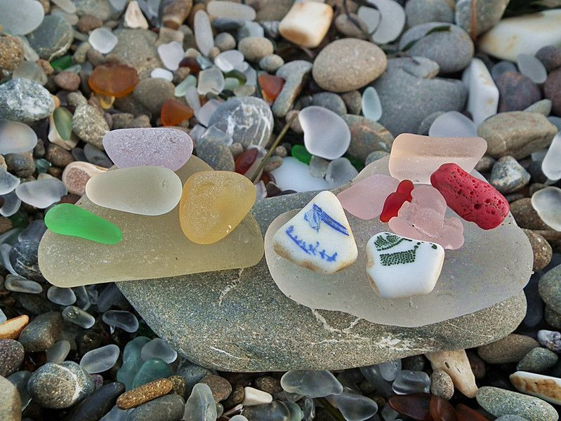 Sea glass in California