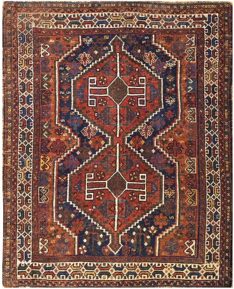 A Red Blue And Ivory Rug Carpet Available Through David E