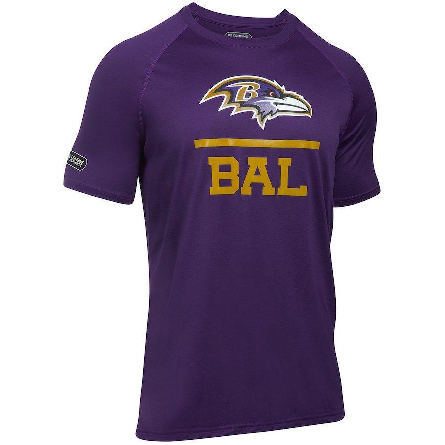 Men's Under Armour Purple Baltimore Ravens Combine Authentic ...