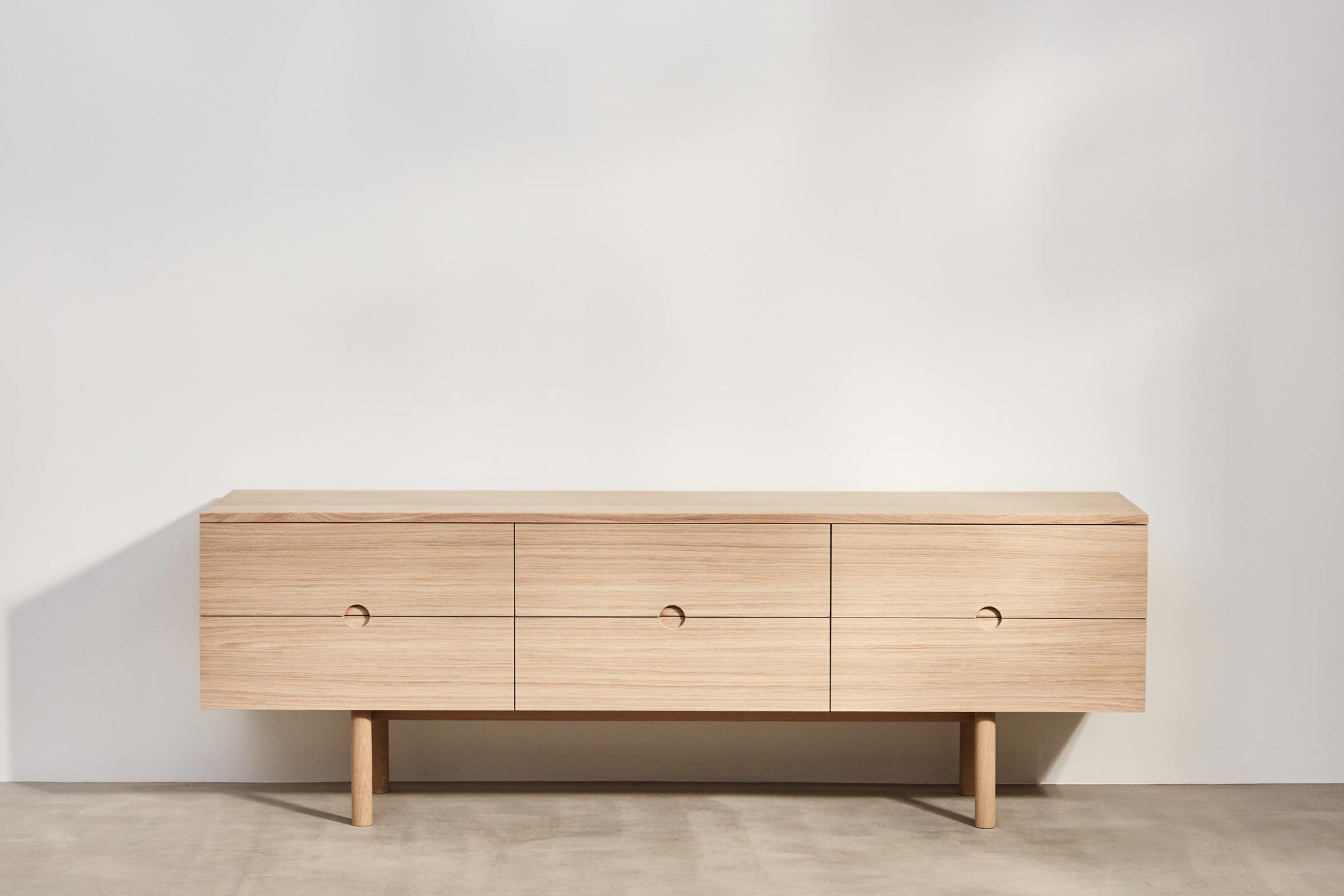 Six Drawer Sideboard Made From Oak