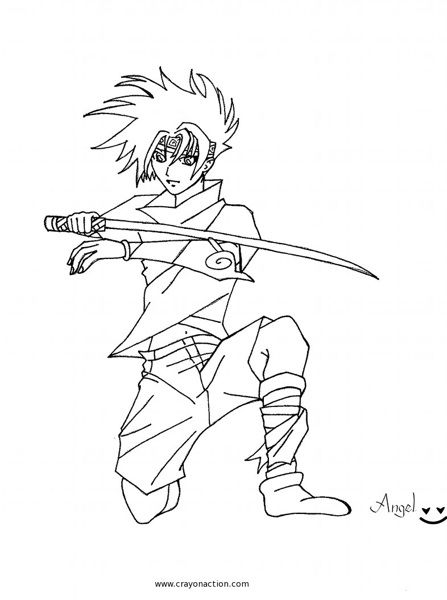 cool Ninja Coloring Page   Crayon Action Coloring Pages ...