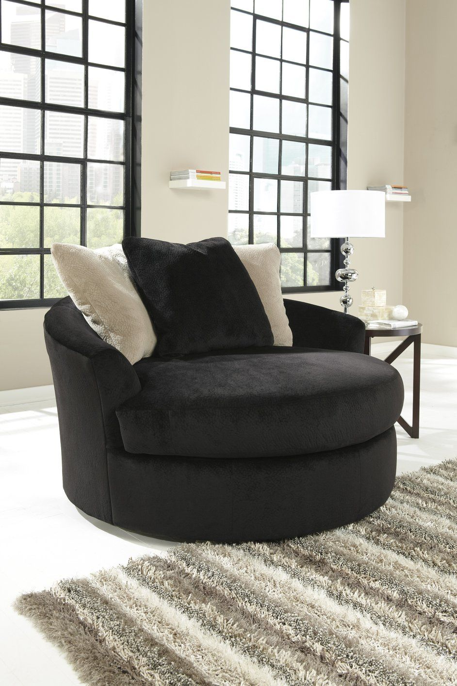 Add Style And Beauty To Your Living Area With A Black Fabric Sofa Round Swivel Chair Accent Chairs For Living Room Wayfair Living Room Chairs #round #swivel #living #room #chairs