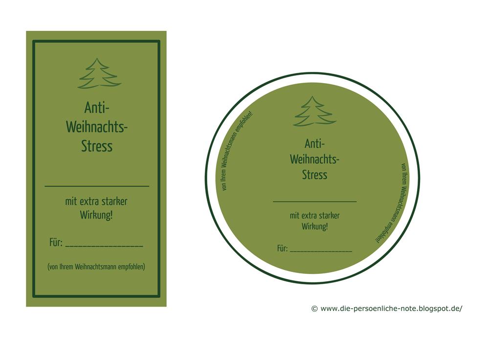 Die Persönliche Note: Anti-Weihnachtsstress! - Kostenlose Geschenkanhänger/Etiketten für Weihnachtsgeschenke