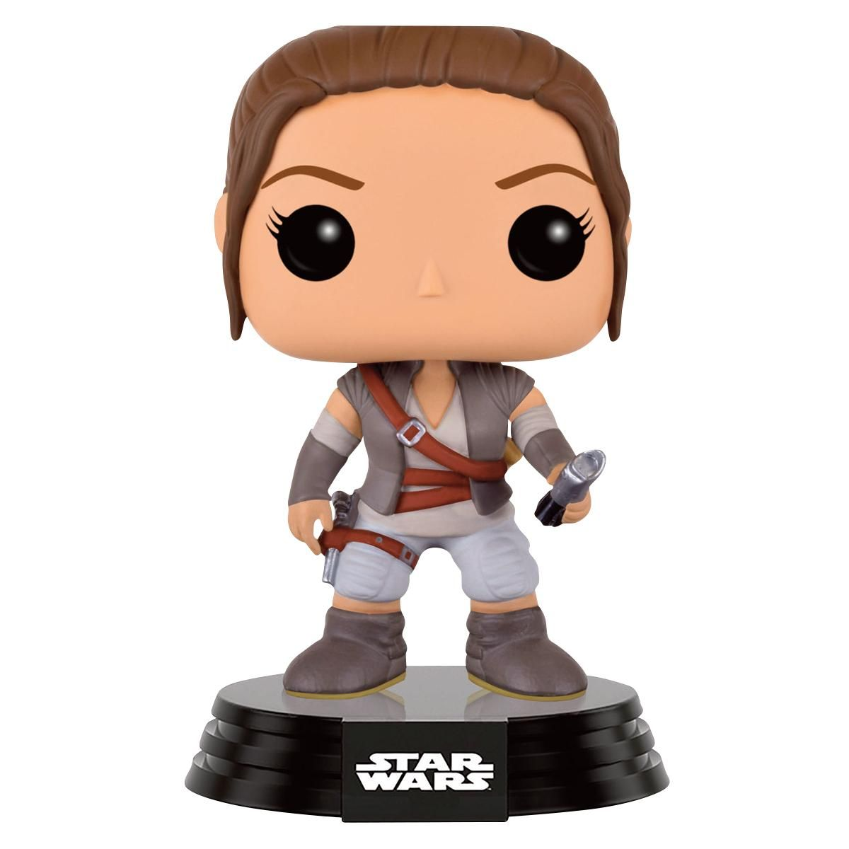 Edizione limitata! Statuetta decorativa The Force Awakens Rey Final Scene Lightsaber Hilt di Star Wars del brand Funko collezione Bobble Head.