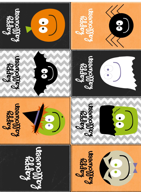 image regarding Printable Halloween Tags named Cost-free Printable Halloween Labels by means of @Catherine Auger