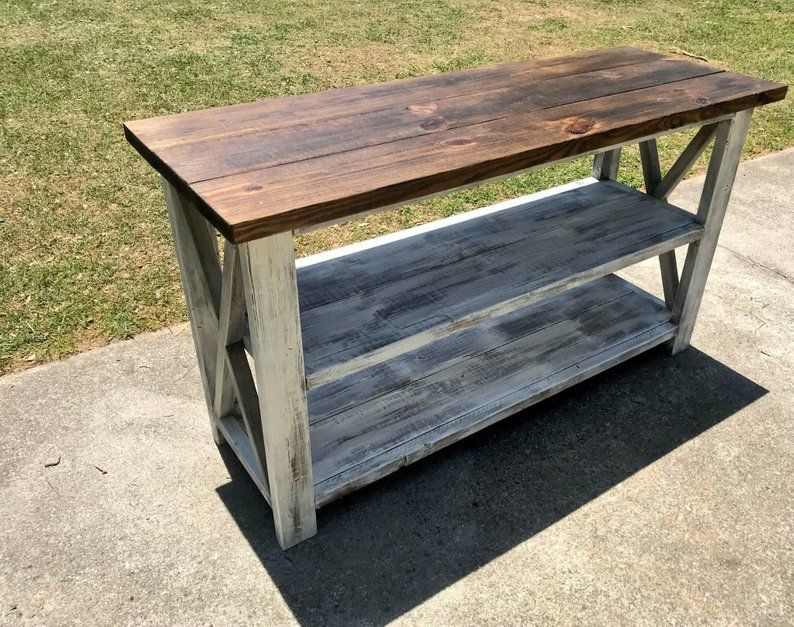 Rustic Wooden Buffet Table, Rustic Console Table ...