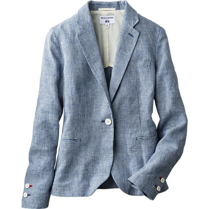 Women Idlf Linen Tailored Jacket Ss Fashion Pinterest Linens