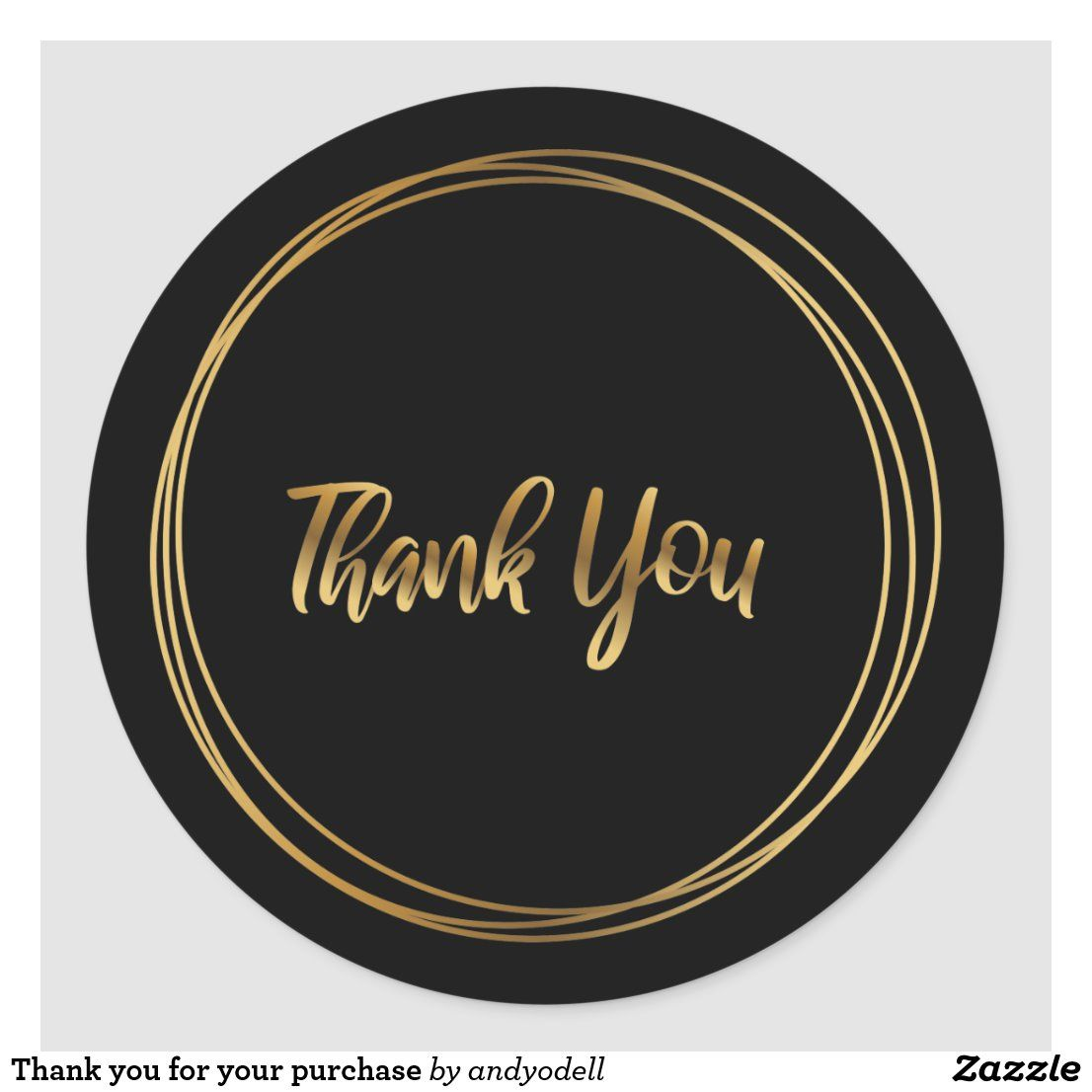 Thank You For Your Purchase Classic Round Sticker Thank You Stickers Printable Thank You Cards Round Stickers