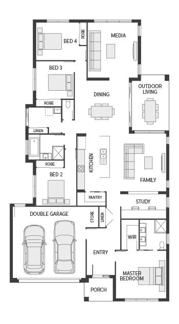 Coral Homes The Santorini Series Features House Floor Plans House Plans House Design
