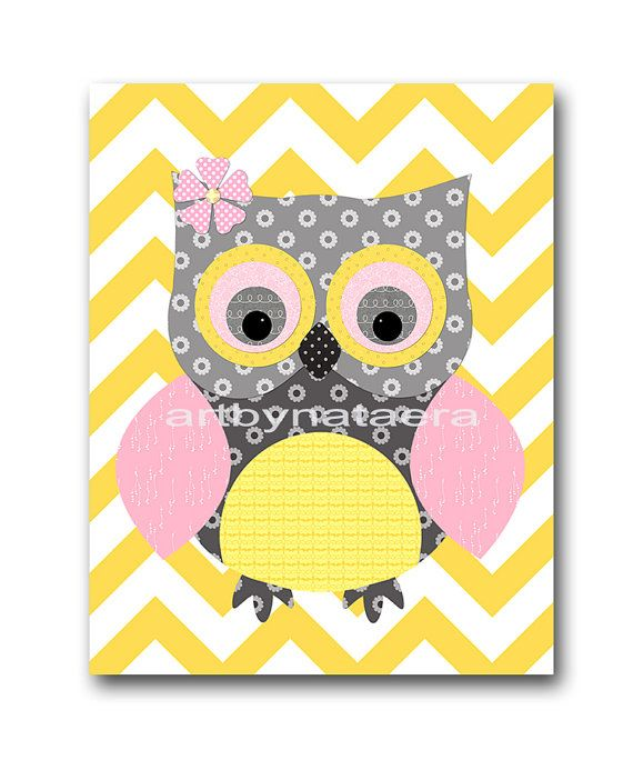 Owl Decor Owl Nursery Baby Girl Nursery Art Nursery wall art baby ...
