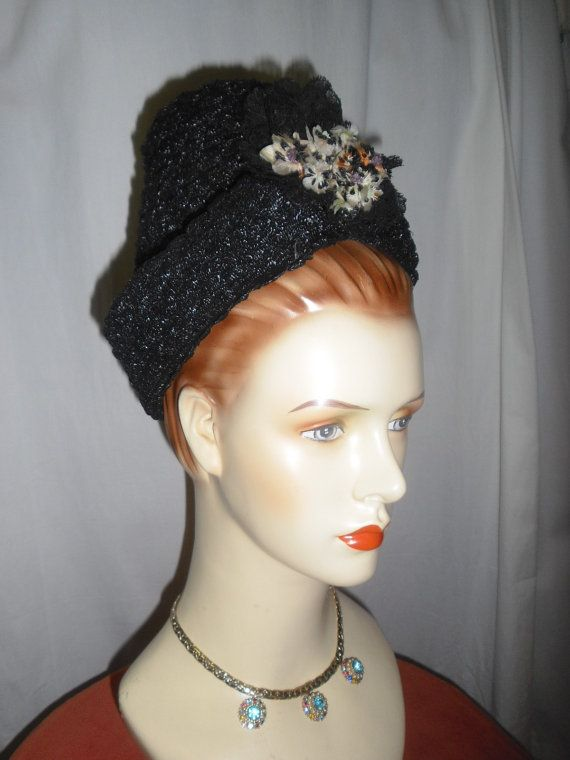 Late 1930s or early 1940s Uniquely Shaped Hat by badgirlvintage, $55.00