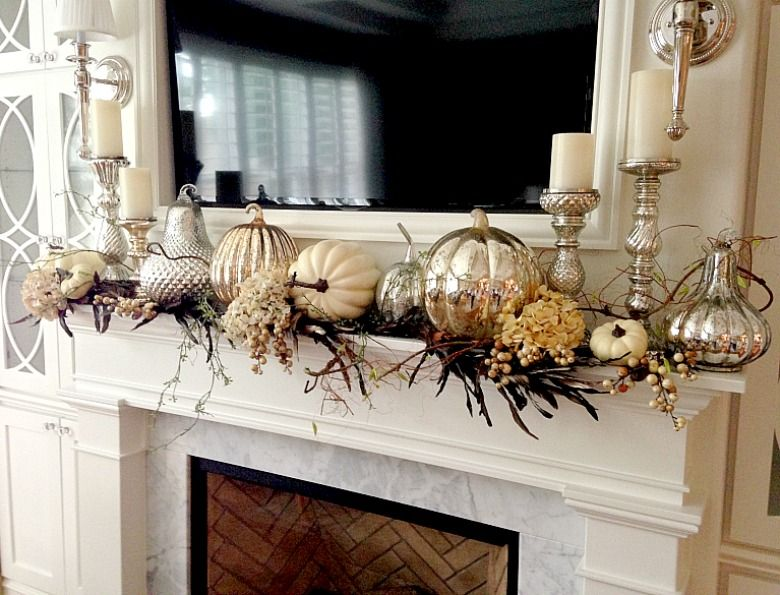 Fall Decor Tips Home Tour - Randi Garrett Design #fallmantledecor