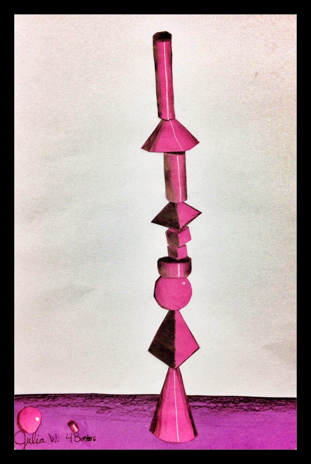 West Middleton Art Smarties Gr 4 Impossible Form Stacks