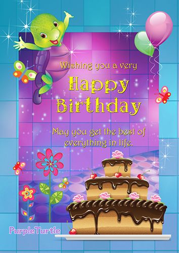 Magical birthday wishes t wish your friends a magical happy birthday with purple turtle free online magical birthday wishes ecards on birthday bookmarktalkfo Gallery