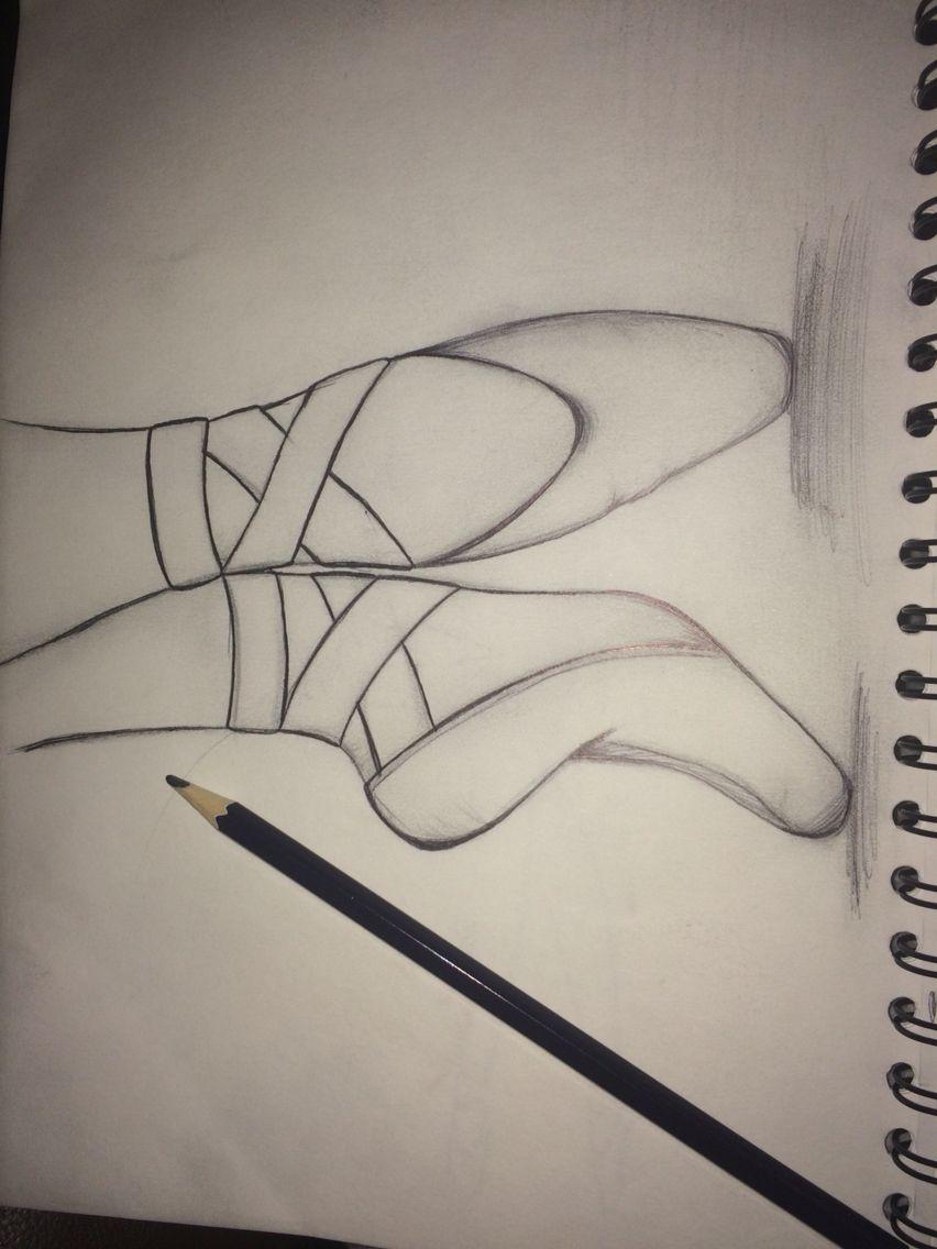 Ballet shoe drawing