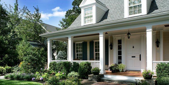 Casas americanas ahome casas y decoracion pinterest for Casas americanas fachadas