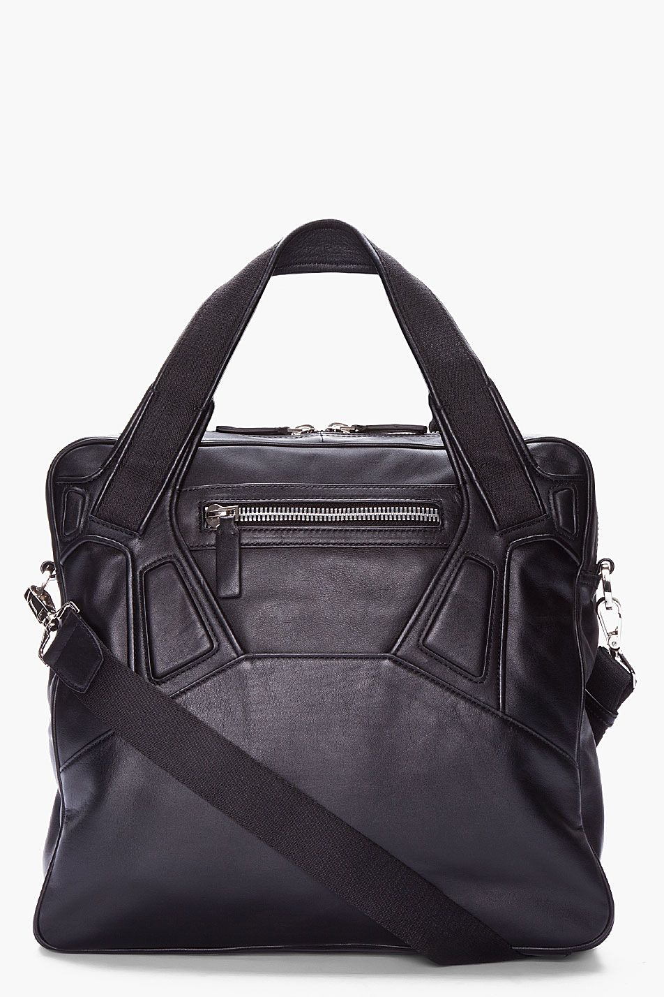 Alejandro Ingelmo Black Leather Avenue Tote Man Bag Shoe Bag Leather