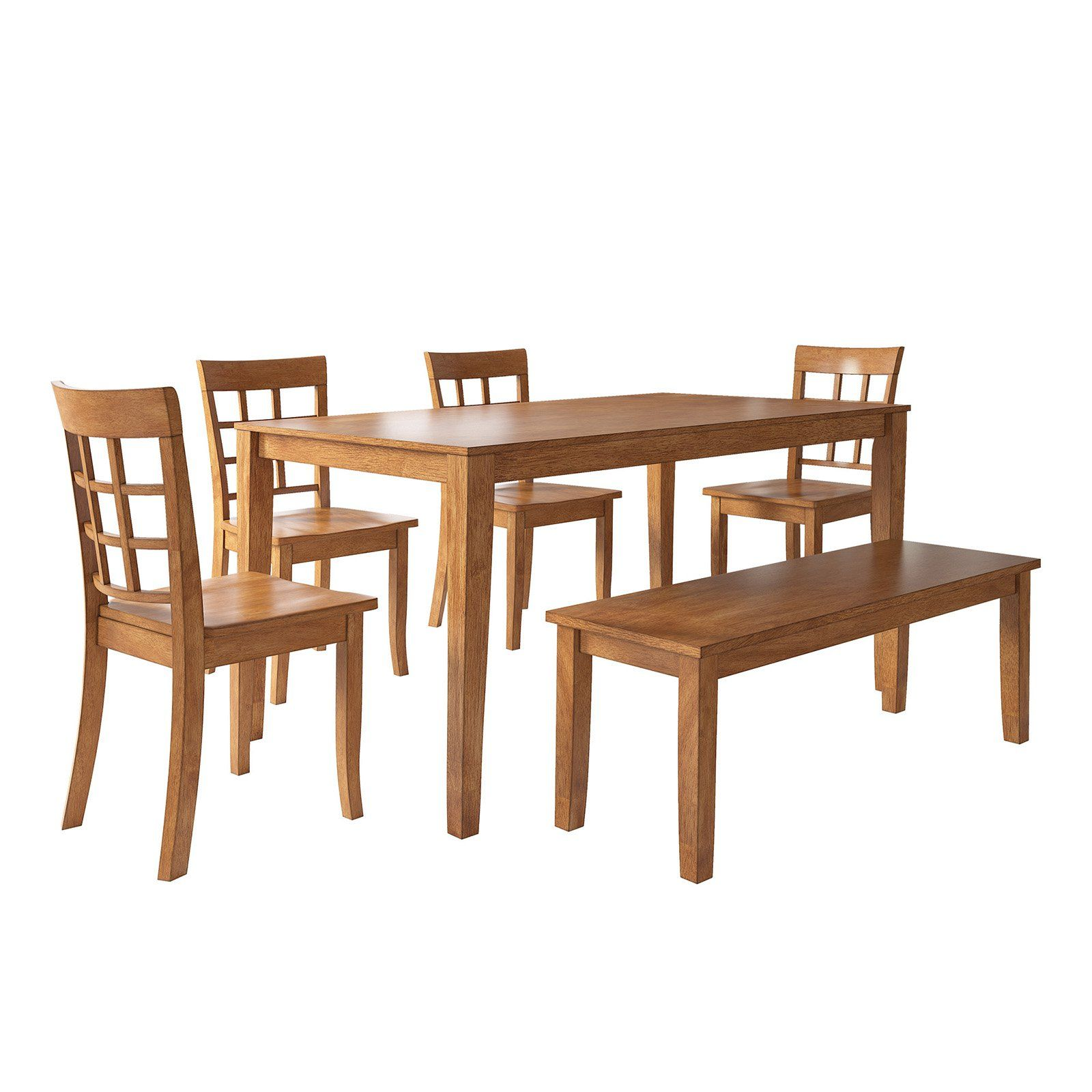 Weston Home Lexington 6 Piece Dining Set With Bench And Window