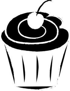cupcake outline clip art cupcake clip art images cupcake stock rh pinterest com Cupcake Coloring Pages Fish Outline Clip Art