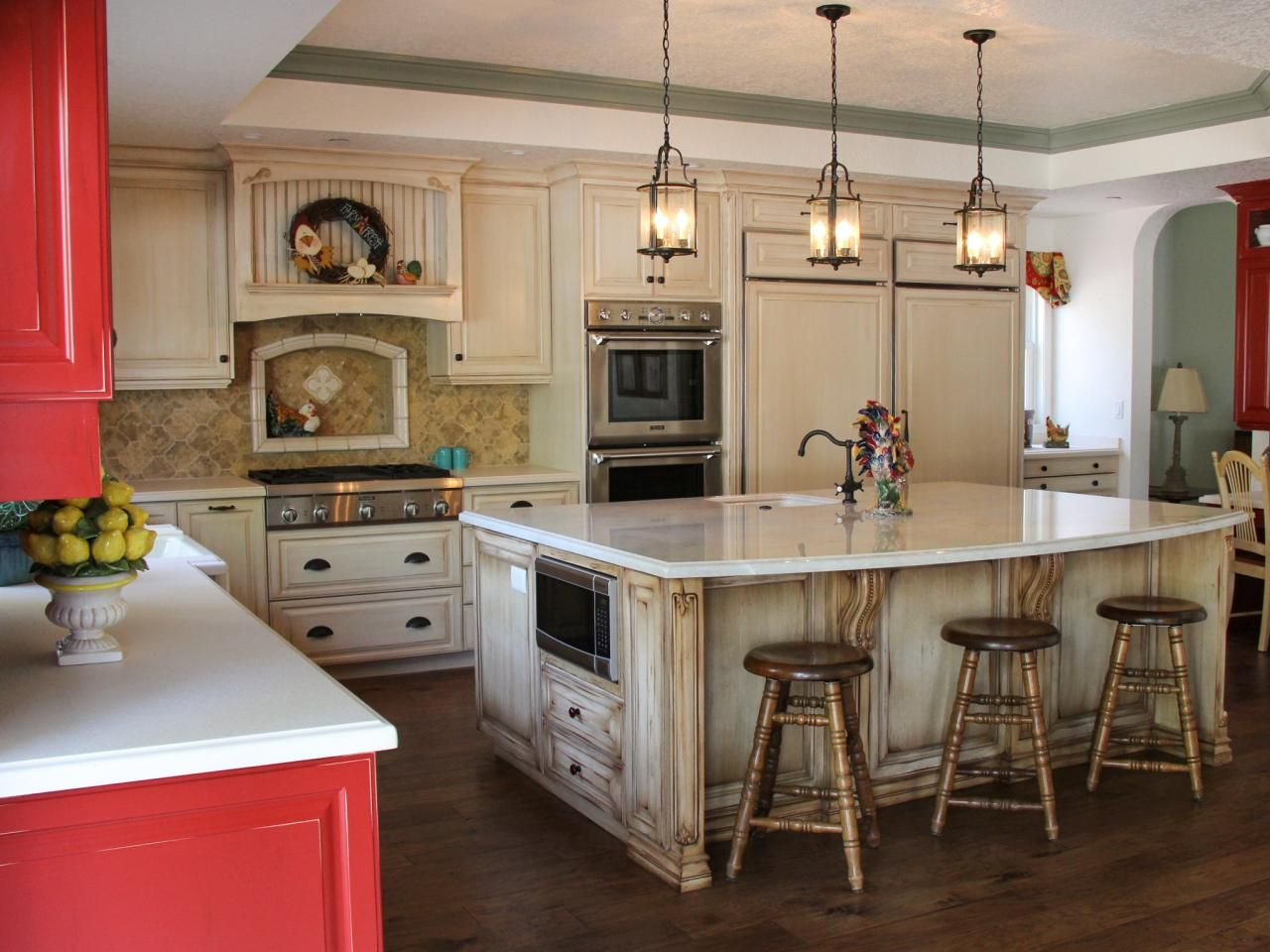 Country Kitchen Remodels Plans this country kitchen has an open-plan design that welcomes guest