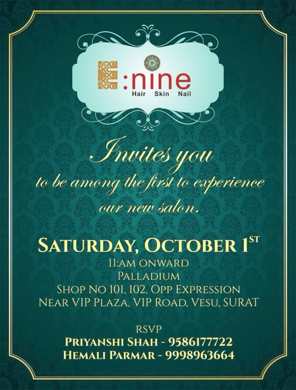 We cordially invite You to the opening of our New Salon Enine