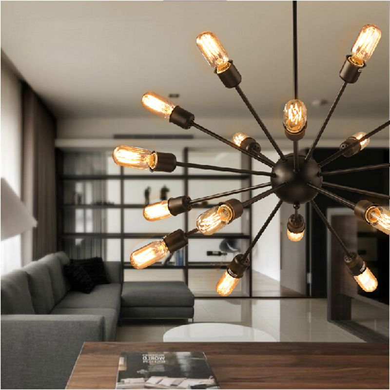 Vintage Pendant Lights Rope Edison Bulb Lamp Modern Fixtures Lighting Led Industrial Iron Pipe Antique Light