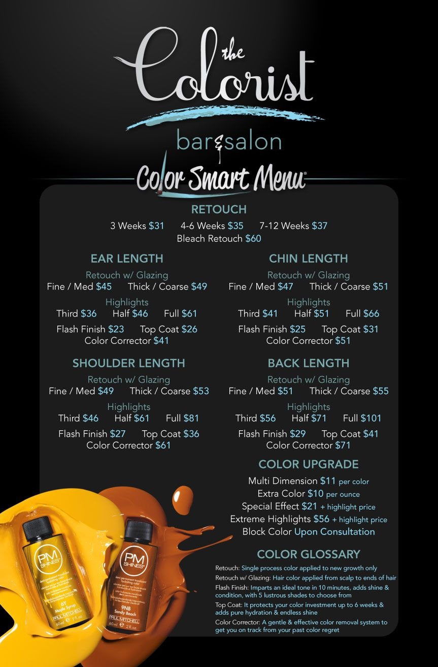 hair style menu color bar menu post your free listing today hair news 7271