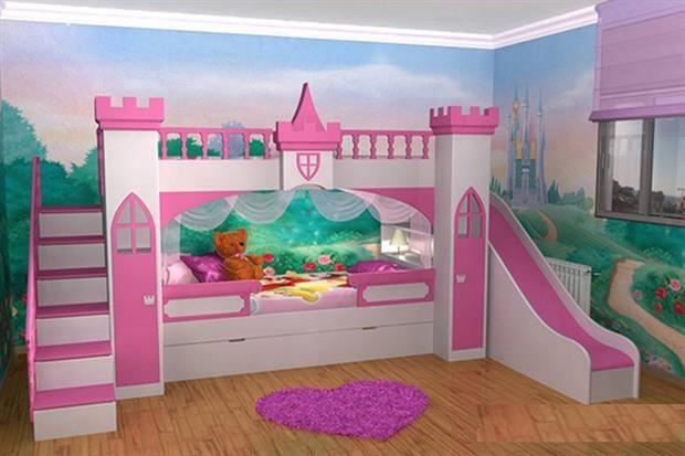 Una cama para proncesas muy buena para ver otros for Cuartos para ninas literas
