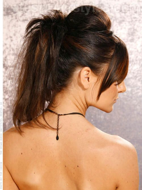 Dark Brown Hair Color With Subtle Caramel Highlights Back Viewg