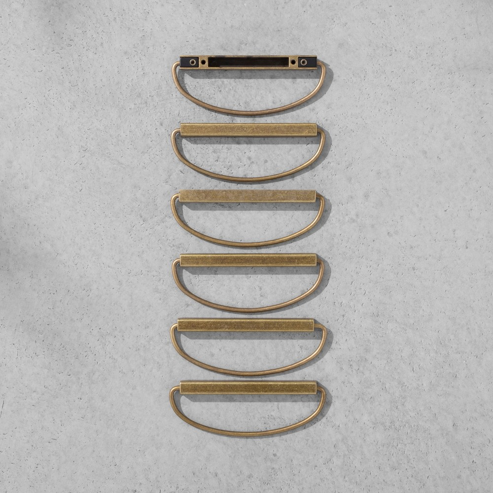 Loop Pull Brass 6 pk Hearth & Hand with Magnolia