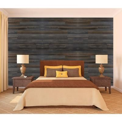 home depot design. Wall Design 3 8 in  x 22 96 Rustic null Faux Barn Wood