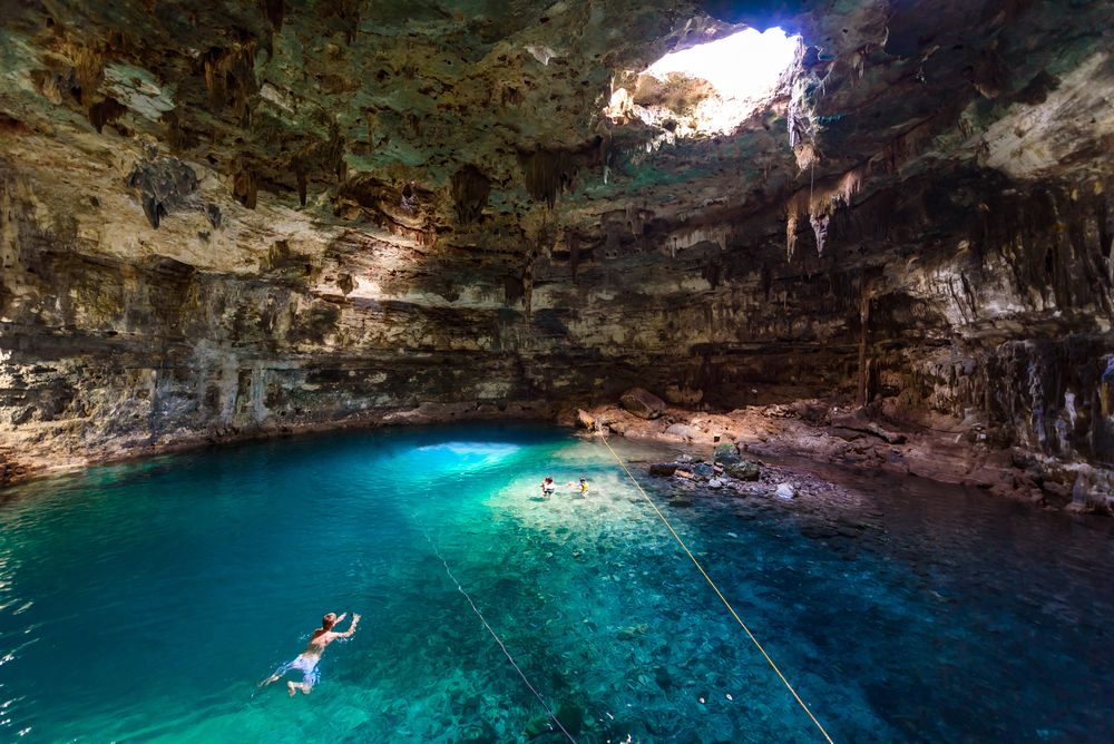 Swimming in cenotes