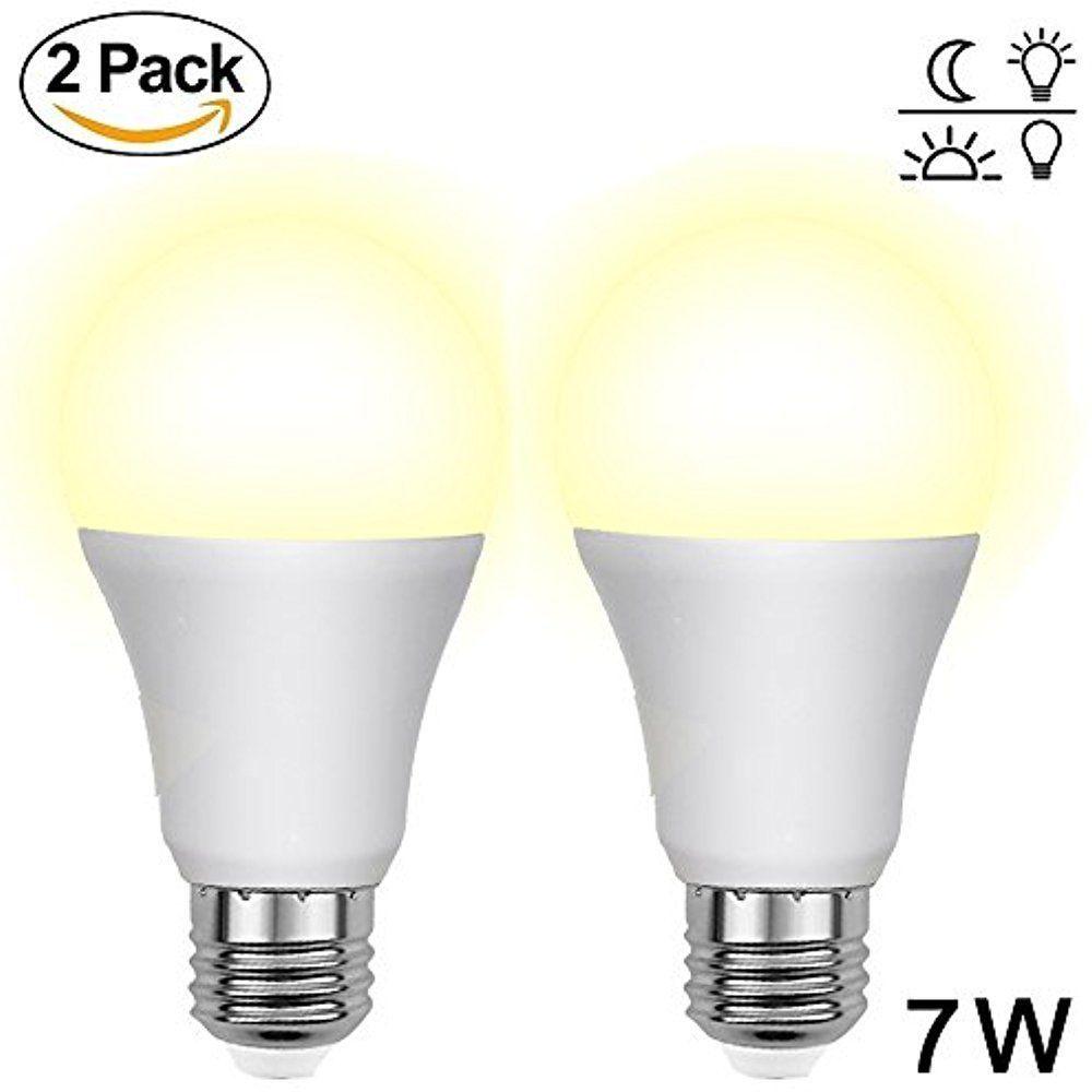 Aukora Dusk To Dawn Led Light Bulbs 7w E26 E27 Sensor Lights Bulbs With Auto Switch Outdoor Indoor Led Light Bulb Light Sensor Led Indoor Lighting