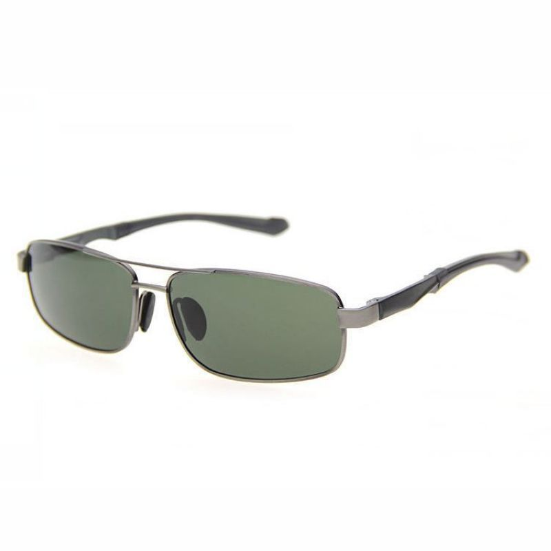 88a37b5513e Aviators Polarized Sunglasses Mens Small Size Alloy Gun Grey Frame Green  Lens