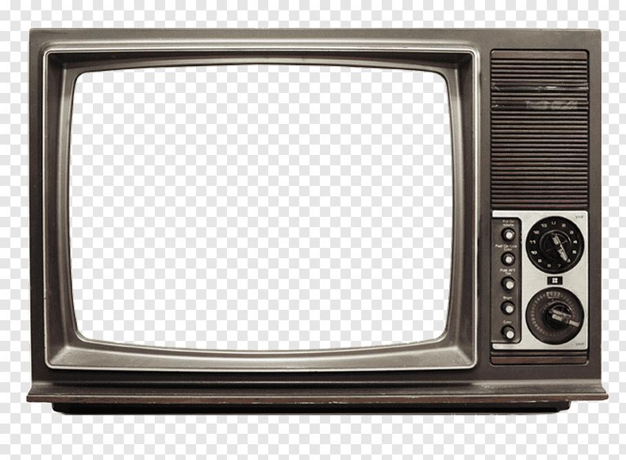 Vintage Brown Crt Tv Png Framed Tv Old Paper Background Vintage Television