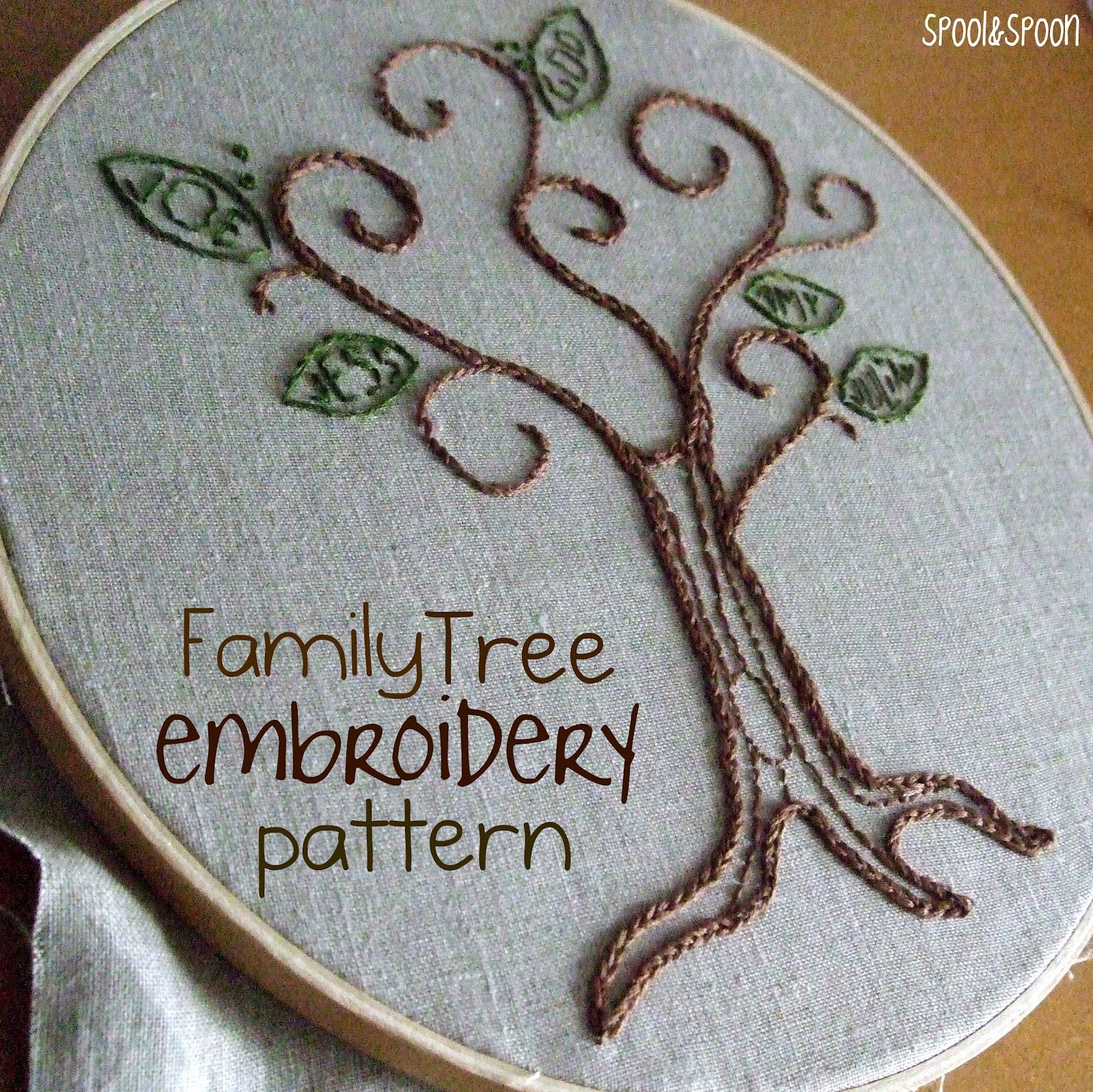 Spool and spoon family tree embroidery pattern ideas spool and spoon family tree embroidery pattern bankloansurffo Choice Image