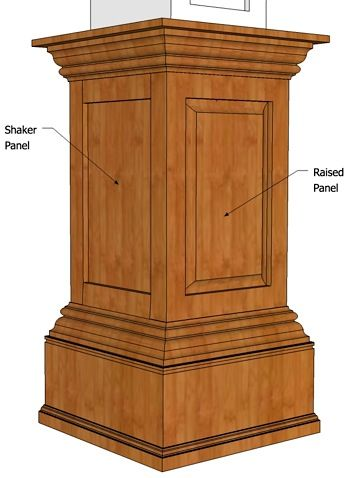 Wooden Columns For Inside House   ... Custom Made Pedestals In The Same  Stain