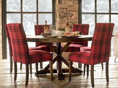 canadel round top loft table with pedestal from toms price furniture