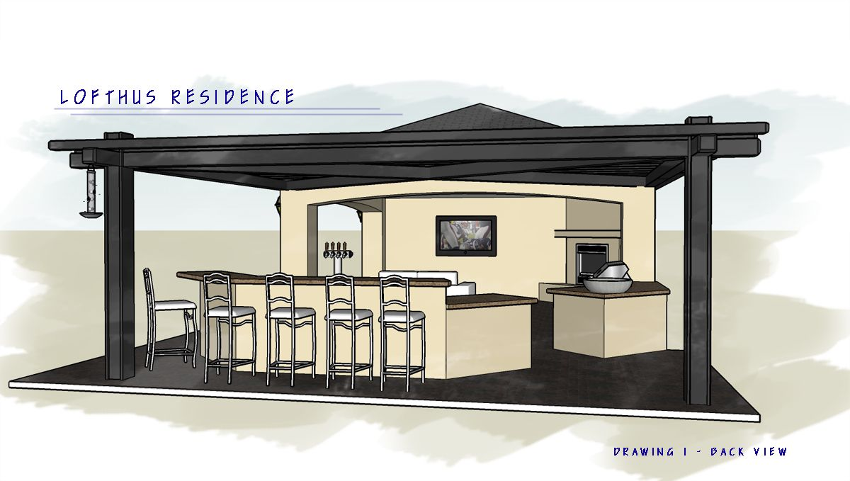 Outdoor kitchen u ramada plans posted in custom outdoor kitchens