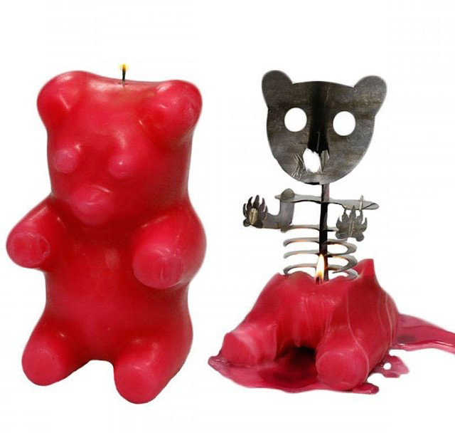 Anatomy Of A Gummy Bear Candle Candles Red Candles Skeleton Candles