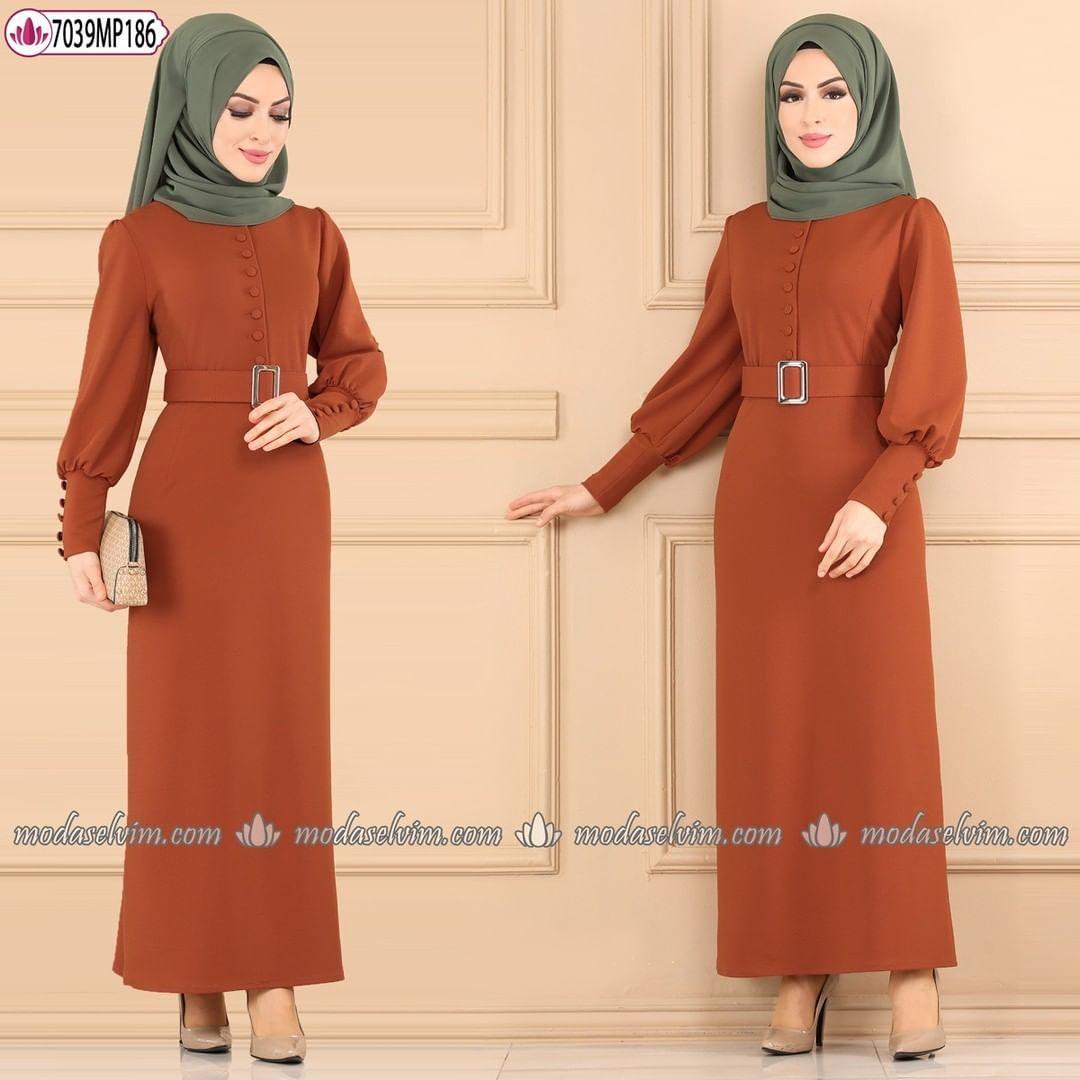 3 626 Begenme 28 Yorum Instagram Da Modaselvim Modaselvim Dugmeli Tesettur Elbise 109 90 Tl Tam Kalip 38 40 42 44 46 48 Bedenl In 2020 Fashion Clothes Hijab