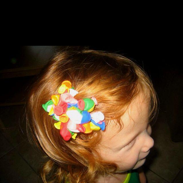 Balloon hair bow