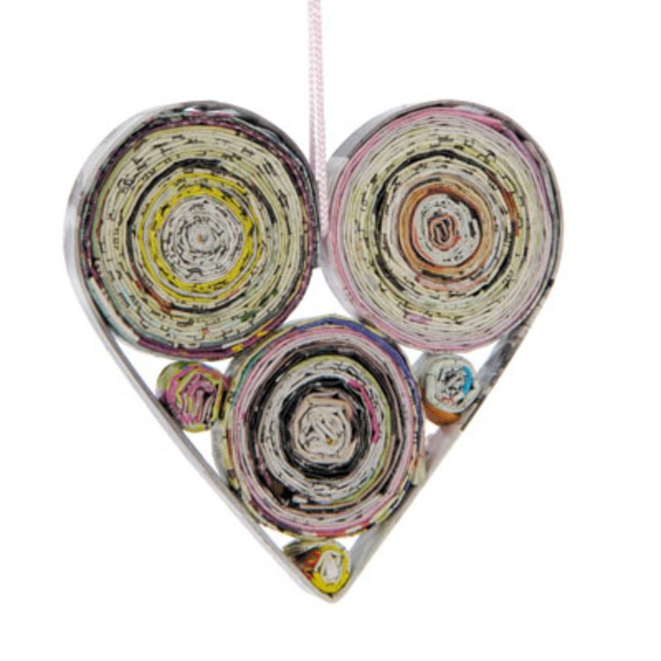 Oxfam Christmas Trees: Recycled Christmas Heart Decoration