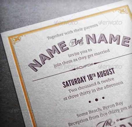 desain undangan pernikahan terbaik template photoshop contoh