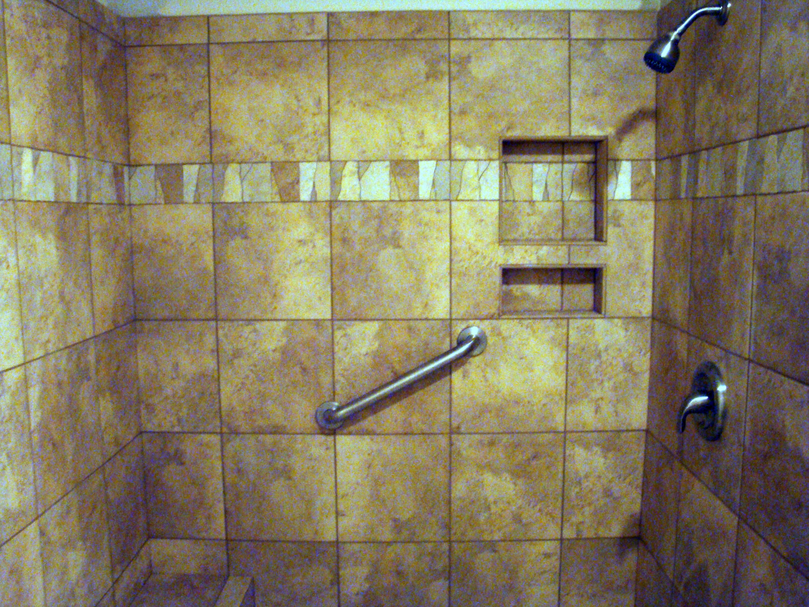 Shower border u custom shelving our installations pinterest