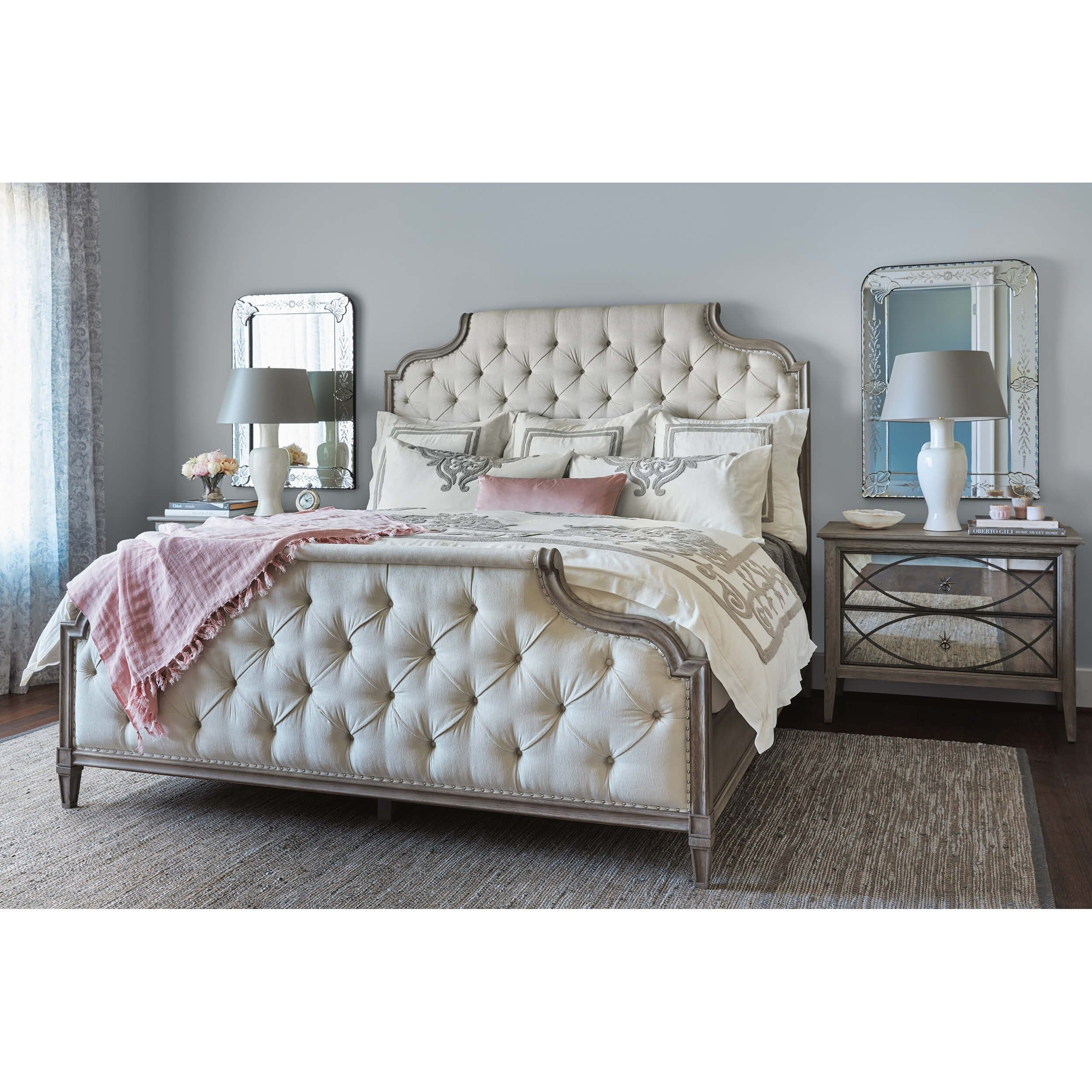 Room Store Bedroom Furniture: Marquesa Upholstered Bed - Queen