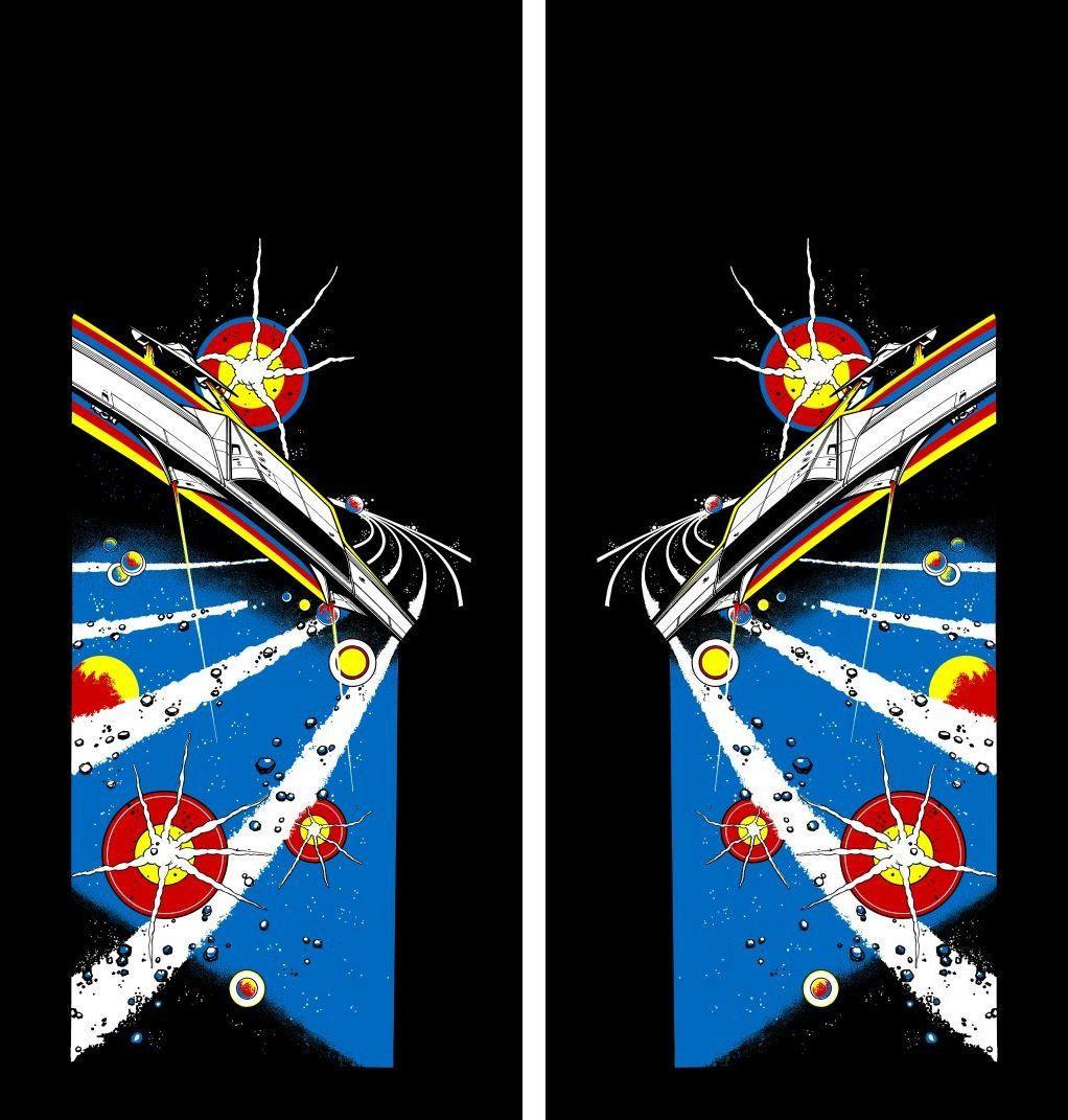 New Asteroids Full Sideart Set Pinball art, Arcade, Art set