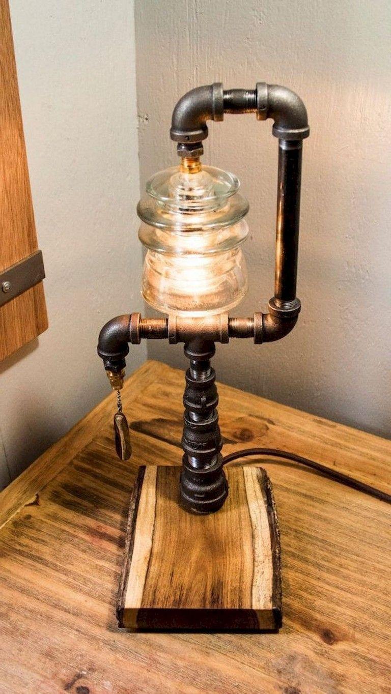 30 amazing diy industrial pipe lamp design ideas lampworkbeads rh pinterest com