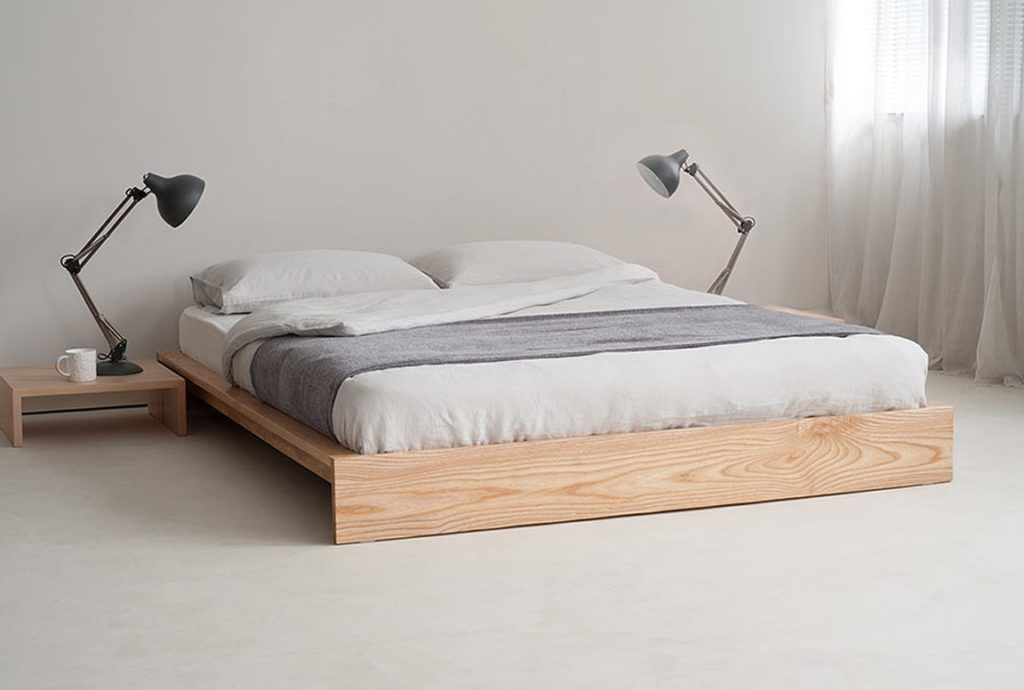 King Size Bed Frame No Headboard Minimalist Bed Minimalist