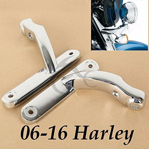 FBA Chrome Auxiliary Lighting Brackets For Harley Street Glide Frame Parts 2006-2016 Motorcycle - http://www.caraccessoriesonlinemarket.com/fba-chrome-auxiliary-lighting-brackets-for-harley-street-glide-frame-parts-2006-2016-motorcycle/  #20062016, #Auxiliary, #Brackets, #Chrome, #Frame, #Glide, #Harley, #Lighting, #Motorcycle, #Parts, #Street #Motorcycle, #Parts